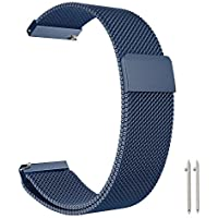 18mm Huawei Watch, Withings Activité Activité pop, Activité Steel, zaffiro, Withings Activité Steel HR, Asus ZenWatch 23,7cm METOU03milanese loop replacement Smartwatch banda magnetica chiusura mesh sta