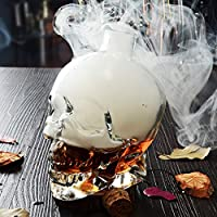 Novedad vaso para la fiesta de Halloween cristal Creative de calavera botella de cristal botella de vino botella de whisky jarra decantador contenedor de bebidas botella de bebidas eléctrica