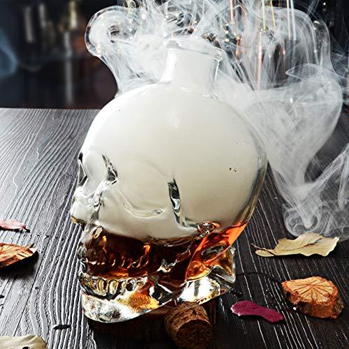 KICCOLY Neuheit Drinkware f¨¹r Halloween-Party Glaswaren Skull Head Creative Flasche Glas Wein...