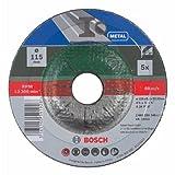 Bosch DIY Schruppscheibe Metall für Winkelschleifer (5 Stück, Ø 115 mm) - 2