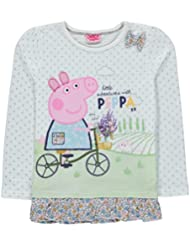 "Peppa Pig ""Lovely Garden Capped manga/Top 3 – 4yrs – Nuevo"