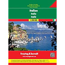 Italien Großer Autoatlas, Spiralbindung - Maßstab 1:200.000, Freytag Berndt Atlanten (freytag & berndt Autoatlanten)