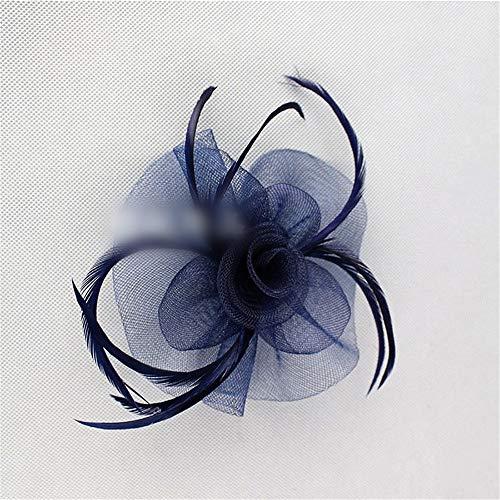 KERVINFENDRIYUN YY4 Federn-Kopfschmuckclip aus Braut-Tiara-Haarnadel-Brosche für Kinder (Farbe : - Marine Blues Kleid Kind Kostüm