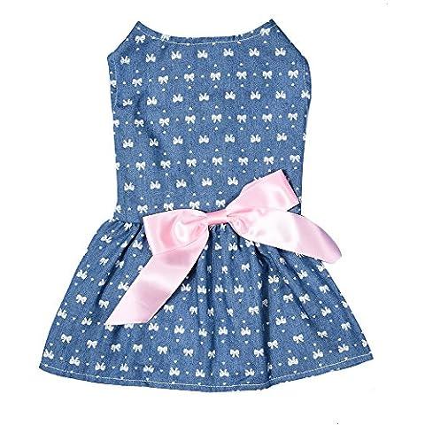 Universe Best UB Pet Chic Elegant Floral Ribbon Dog Dress Shirt Vest colourful pattern Clothes