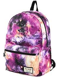 TRENDMAX Mochila Escolar con estampado de galaxia | 42,5x29x13cm | para portátil 15 pulgadas