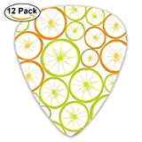 12-Pack Custom Guitar Picks Fruit Slices Powerpoint Template Standard Bass Guitarist Music Gifts