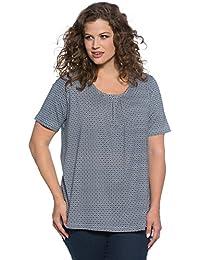 d8cc0bde558997 Ulla Popken Damen Große Größen bis 62/64 | Shirt mit Muster und Raffung