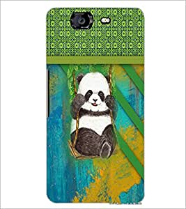 PrintDhaba Panda D-3768 Back Case Cover for MICROMAX A350 CANVAS KNIGHT (Multi-Coloured)