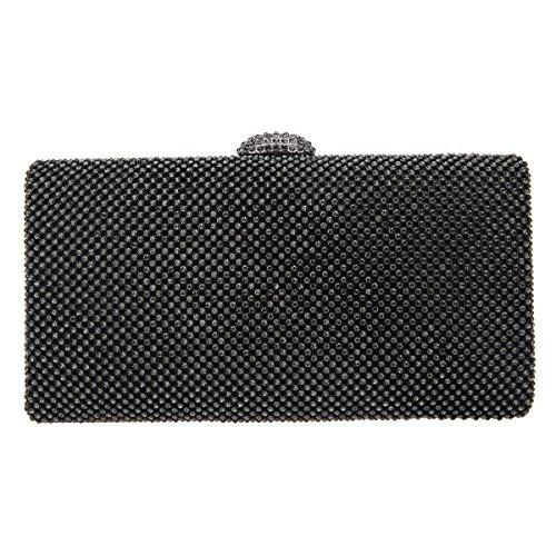 Bonjanvye Envelope Oversized Handbag Evening Purses Clutches Bag Green Gray