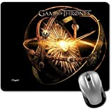 Crazyink Thrones Glowing Logo Premium Printed Designer Mouse Pad | 22Cm By 18 Cm| Gaming Mouse Pad | Hd Printing | Ultimate Grip | Waterproof Coating | Game Lovers | Perfect For Home & Office | Anti Skid | Slim Light Weight.
