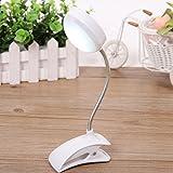 Zantec LED Tischlampe Clip on Flexible Lesen Studie Nachttischlaptop Schreibtisch