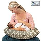 #5: Kradyl Kroft 5in1 Baby Feeding Pillow Grey with Detachable Cover Nova - (KK5in1-221)