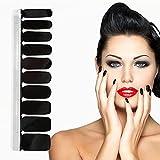 20 stücke Full Cover Nagellack Aufkleber Bunte selbstklebende Spitze Nail art Aufkleber Decals Maniküre DIY Dekorationen Werkzeuge(BZ01 Black)