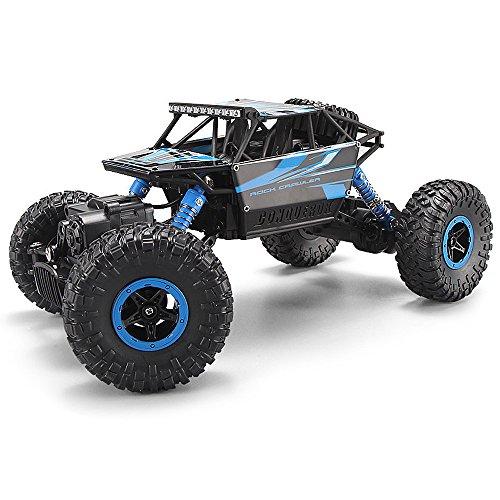 MiGoo RC Rock Crawler Monster Truck Voiture électrique de commande à Distance 2.4 GHz, 4 WD 1:18 Échelle Donner des Cadeaux Version mise à niveau