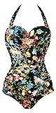 Angerella Vintage 50s Pin Up scollato Costume da bagno Costume intero SST036-P1-3XL