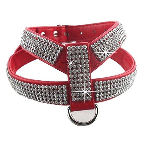 EMVANV Hundegeschirr mit Leine und Brustgurt, mit Glitz… | 00192798998819