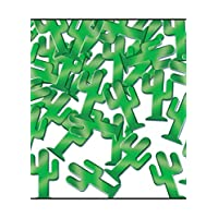 A Beistle Creation Western Party Green Cactus Confetti Sprinkles