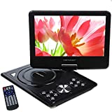 DBPOWER 9.5'' Portable DVD Player with Swivel Screen, Supports SD Card and USB, With Game Controller+ Game CD