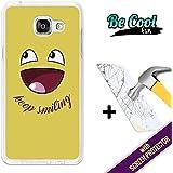BeCool® Fun - Coque Etui Housse en GEL Flex Silicone TPU Samsung Galaxy A5 2016 [ +1 Protecteur Verre Trempé ] , protège et s'adapte a la perfection a ton Smartphone et avec notre design exclusif. N'arrêtes jamais de sourire