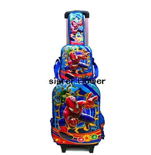 sf-world - Juego de maletas  azul spiderman large