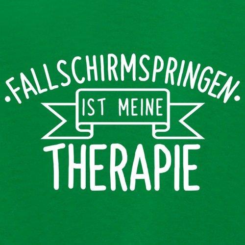 Fallschirmspringen ist meine Therapie - Damen T-Shirt - 14 Farben Grün