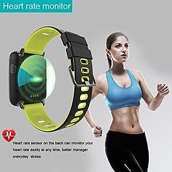 Yamay Smartwatch Bluetooth Smart Watch Uhr Mit Pulsmesser Armbanduhr Wasserdicht Ip68 Fitness Tracker Armband Sport Uhr Fitnessuhr Mit Schrittzähler,schlaf-monitor,setz-alarm,stoppuhr,sms-, Anruf-benachrichtigung Pushkamera-fernsteuerung Musik Für Android Und Ios Telefon 12