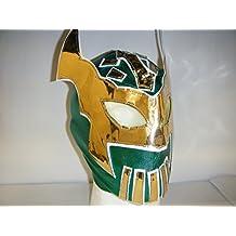Maschera Sin Cara, con chiusura a zip per bambini Verde Smeraldo