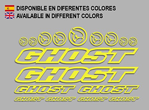 Ecoshirt N1-YFRM-Z0ME Adesivi Ghost F188 Vinile Decal Aufkleber (MTB Stickers Bike, Yellow)