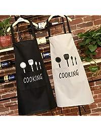 BESTEU Unisex Cocina Ajustable Babero Delantal Ideal lavavajillas Limpieza  Impermeable Cocina Delantal Chef Delantal b907e8ddebf