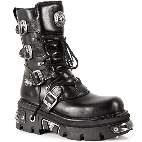NEWROCK New Rock Stivali Stile 373 S4 Nero Reactor Unisex (37)