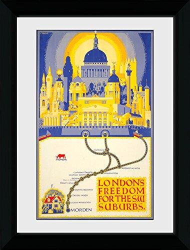 GB Eye Ltd Transport for London, Liberté, encadrée, 50 x 70 cm, Bois, différents, 55 x 75 x 2.9 cm