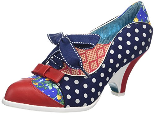 Poetic Licence by Irregular Choice Force Of Beauty, Scarpe Stringate Brouge Donna Blue (Blue (Navy/Red/White))
