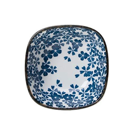 RKY Bol- Vaisselle en céramique créative japonaise impression bol carré bol de riz salad bol sauce plat -6 styles /-/ (Couleur : C)