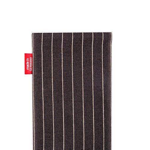 fitBAG Rock Taupe Handytasche Tasche aus Textil-Stoff mit Microfaserinnenfutter für Apple iPhone 3G Twist Dunkelbraun