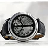 60 LED Electronic Wristwatch, Digital Watch With Unusual Design and Black Leather