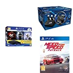 Sony PS4 500 GB Slim Console+Thrustmaster T150 Pro Raci+A2:A29ng Wheel for PS4+Need for Speed Payback (PS4)