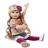 LCLrute Hot Langes lockiges Haar Mädchen Puppe Baby Doll Realistische Reborn Puppen Spielzeug mit schönen Kleidern und Schuhen 45 cm (Rosa)