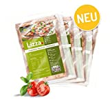 Produkt-Bild: Lizza Low-Carb Pizzateig vorgebacken aus Lein- und Chiasamen. Bio. Glutenfrei. Vegan. (8 x 125g)