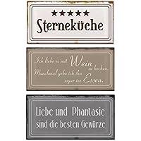3 Blech Schilder Im Set B X H Je 18,5x9cm Metallschilder 5 Sterneküche