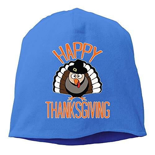Herren Pilgrim Kostüm - Happy Thanksgiving Turkey Pilgrim Hat Unisex, Frauen/Männer Wollmütze Weiche Stretch Beanies Skull Cap Weihnachten, Schwarz Unisex9