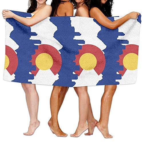 VTXWL Colorado Flag City Skyline Unisex Fashion Towel Personalized Print Beach Towels