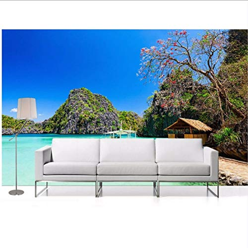 3d wallpaper natur Seaside Tropical beach hütte ozean 3d wallpaper TV hintergrundbild das wohnzimmer sofa hintergrundbild