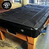 Jonny 8Ball Pesado Deber resistente al agua cubierta de mesa de billar–7ft negro