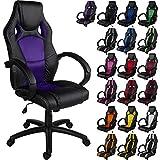"""RACEMASTER® """"GS Series"""" - Silla de escritorio/Gaming silla de despacho - Mecanismo de inclinación y elevación Homolación SGS - Disponible en 20 colores - silla de oficina púrpura"""
