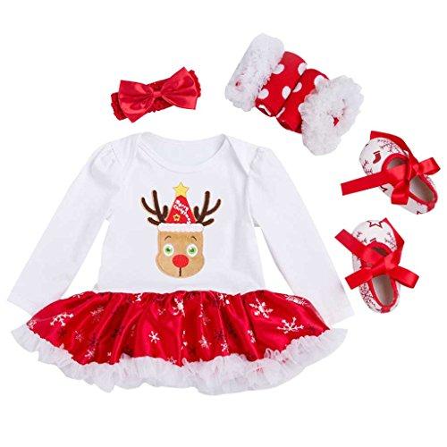 Vine Vestidos Navidad Ropa Bebé Peleles Bebe Niña Monos Navidad Ropa 0-18 Meses