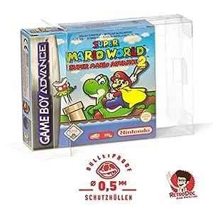 5 Klarsicht Schutzhüllen GAME BOY ADVANCE OVP – 0,5MM – ARMOURED – Game Boy OVP – Spiele Originalverpackung Passgenau…
