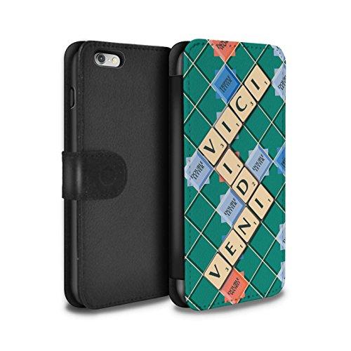 Stuff4 Coque/Etui/Housse Cuir PU Case/Cover pour Apple iPhone 6+/Plus 5.5 / Veni Vidi Vici Design / Mots de Scrabble Collection Veni Vidi Vici
