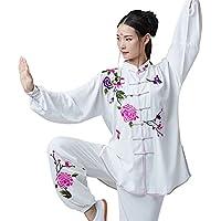 KIKIGOAL Tai Chi Ropa Bordado Femenino, Bombachos De Algodón De Asia, Tai Chi Ancianos Trajes, Practicar Artes Marciales De Ropa (M)