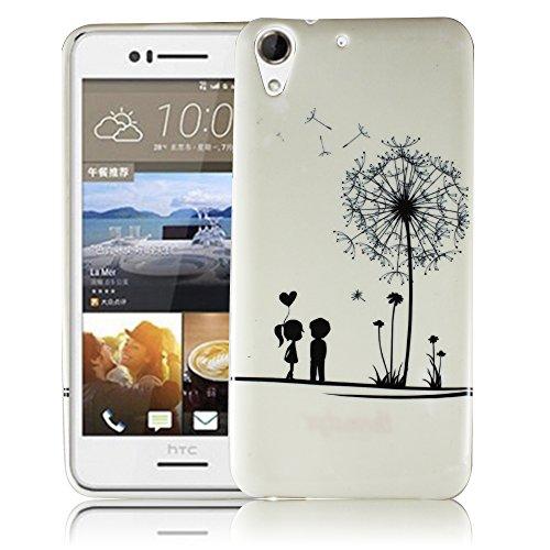 HTC Desire 728G PUSTEBLUME Silikon Silikon Schutz-Hülle weiche Tasche Cover Case Bumper Etui Flip smartphone handy backcover Schutzhülle Handyhülle thematys®