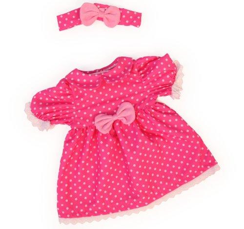 Bayer Design 84663 - Kleidung für Puppen circa 46 cm, Kleid mit Stirnband
